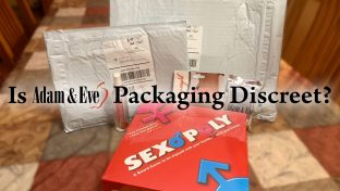 Photograph Of Sex Board Game And Products From Adam & Eve With Discreet Bubble Mailer Packaging In Background