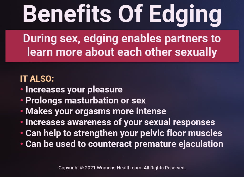 Infographic That Explains The Benefits Of Edging During Masturbation And Partnered Sex
