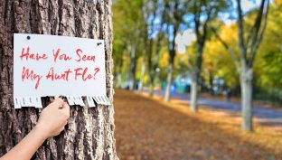 Sign Posted On A Tree By Woman Looking For Her Late Period