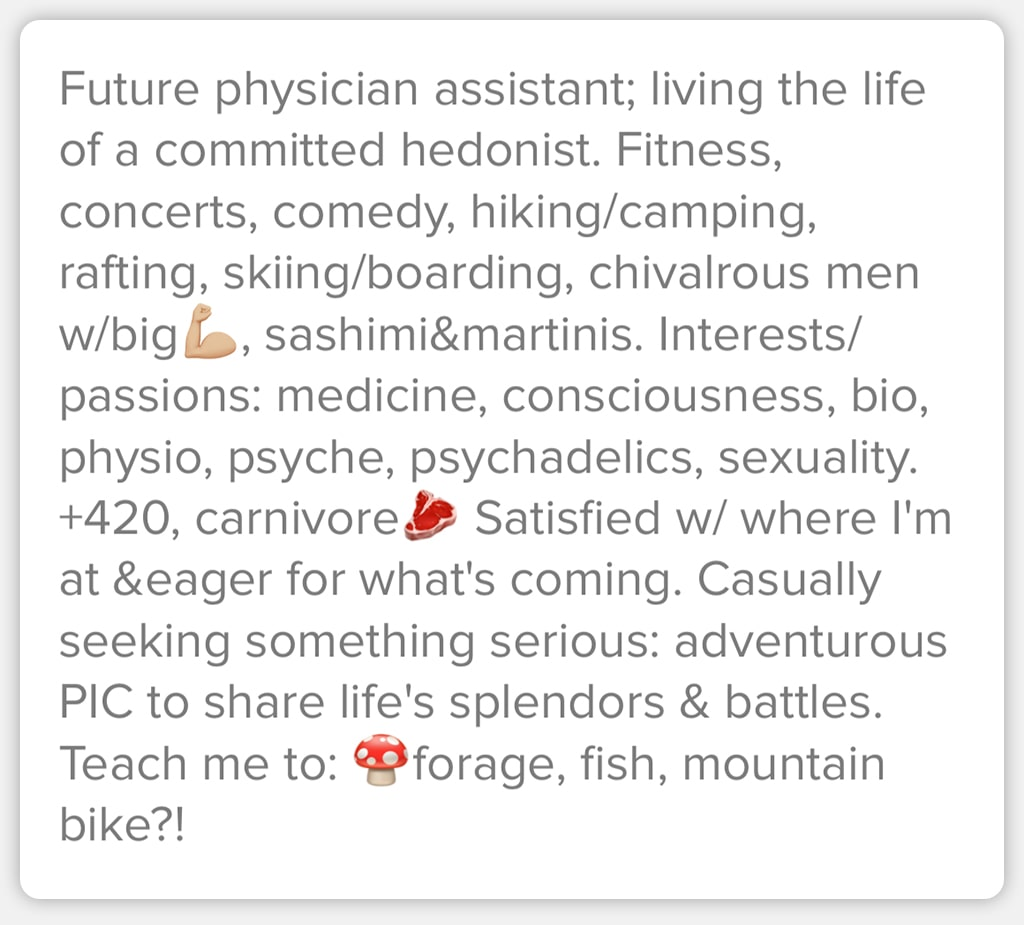 Screenshot Of Online Dating App Description That Is Thorough And Specific