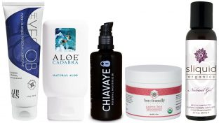 Image Of Five Best Natural And Organic Personal Lubricants: AH! YES OB, Aloe Cadabra, Chiavaye, BeeFriendly and Sliquid Organics