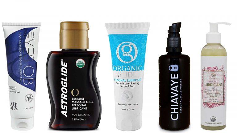 Image Of The Five Best Oil-Based Personal Lubricants: AH! YES OB, Chiavaye, Organic Glide, Era Organics, and ASTROGLIDE O