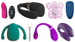 Image Collage Of 8 Best Wearable Vibrators: Club Vibe 3.Oh, TIANI 3, Venus Butterfly, blueMotion NEX|1, Eva II, Vesper, Esca 2, and Chorus