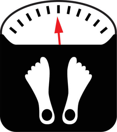 Icon Of A Scale With 2 Feet Illustrating Someone Measuring Their Weight