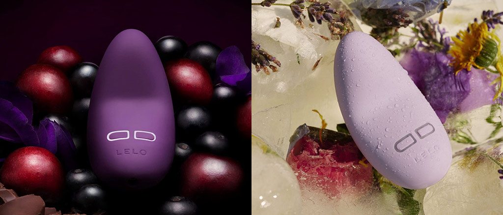 Stock Photo Collage Of Dark Purple And Light Purple LELO LILY 2